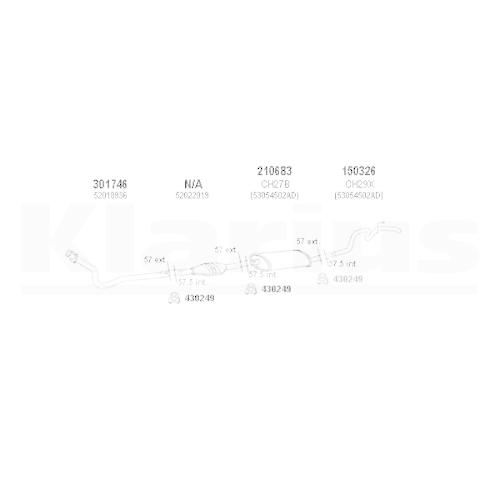 KLARIUS Auspuff SET NEU Jeep Grand Cherokee I ZJ 4.0i 4x4 bis 12//98 AR+MSD+ER